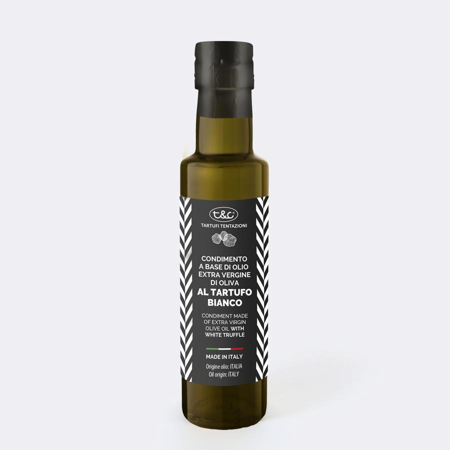 Condiment Made Of Extra Virgin Olive Oil With White Truffle