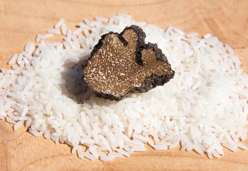 """""""Picena"""" Cool Rice With Fresh Summer Truffle"""