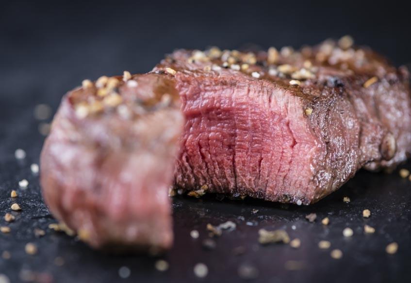 "Beef Steack ""tagliata"" With Black Truffles"