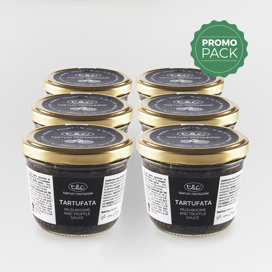 Tartufata: Mushrooms, Truffles And Olives Sauce Promo Pack (6x180gr)