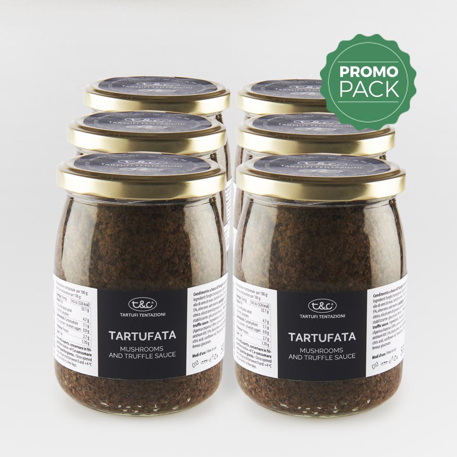 Tartufata: Mushrooms, Truffles And Olives Sauce Promo Pack (6x500gr)
