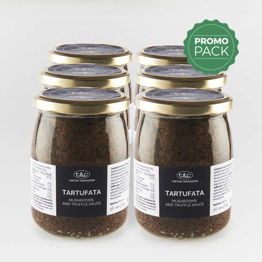 Tartufata: Mushrooms, Truffles And Olives Sauce Promo Pack (6x500gr)