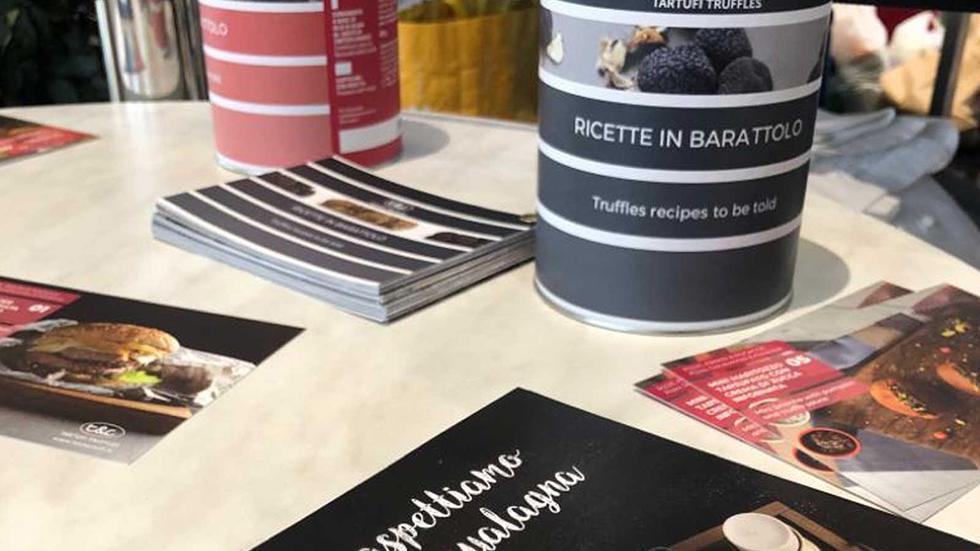 Novità Barattoli Red E Grey Gift Con Cartolina Ricetta T&C Tartufi