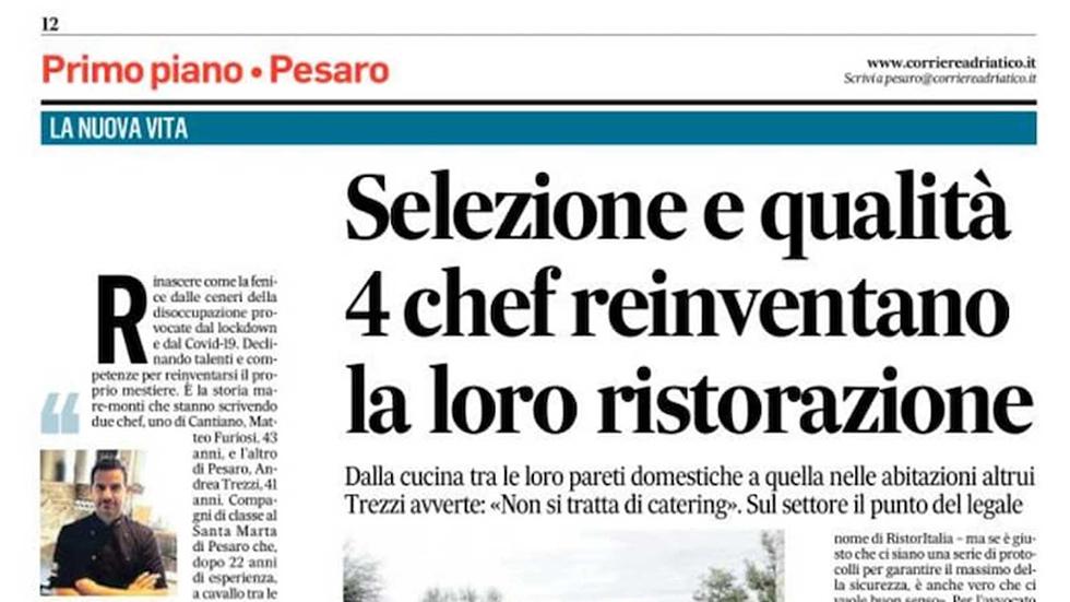 Articolo Del Corriere Adriatico Del 6 Giugno 2020